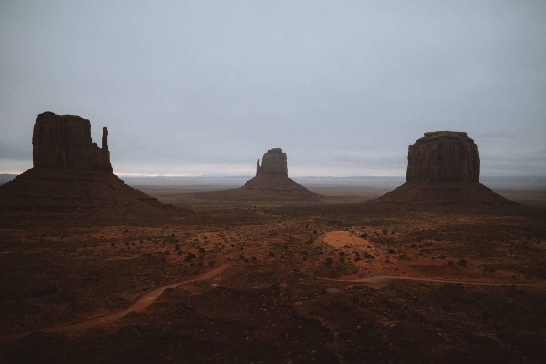 Monument Valley during sunrise - Southwest Road Trip Destination -TheMandagies.com