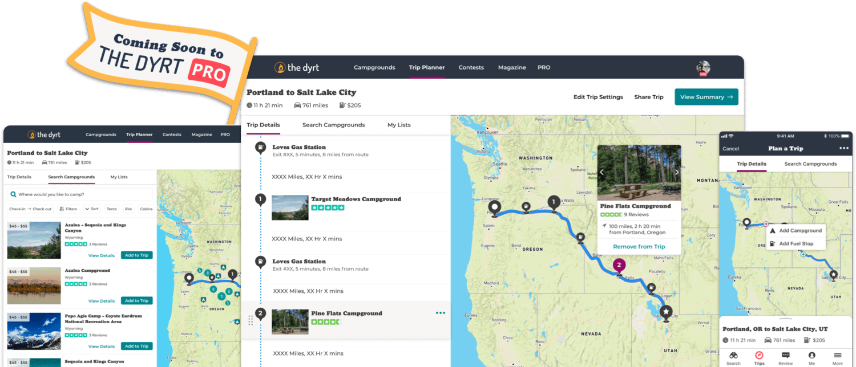 The Dyrt Road Trip Planner App