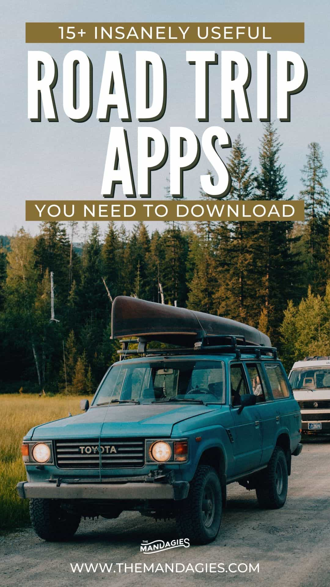 Searching for useful road trip planners to make your next trip a breeze? We're sharing our 15 favorite road trip apps and tools, that help us find everything from the cheapest gas prices to free campsites! Save this post for your next epic summer road trip adventure! #roadtrip #summer #camping #campsite #roadtripplanner #adventure #USA #travel #photography