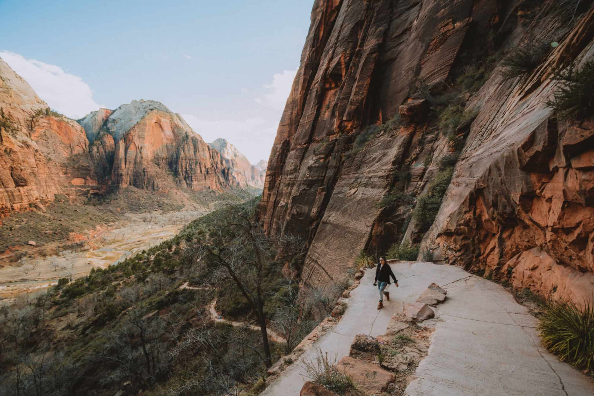 Angels Landing switchbacks - The Mandagies