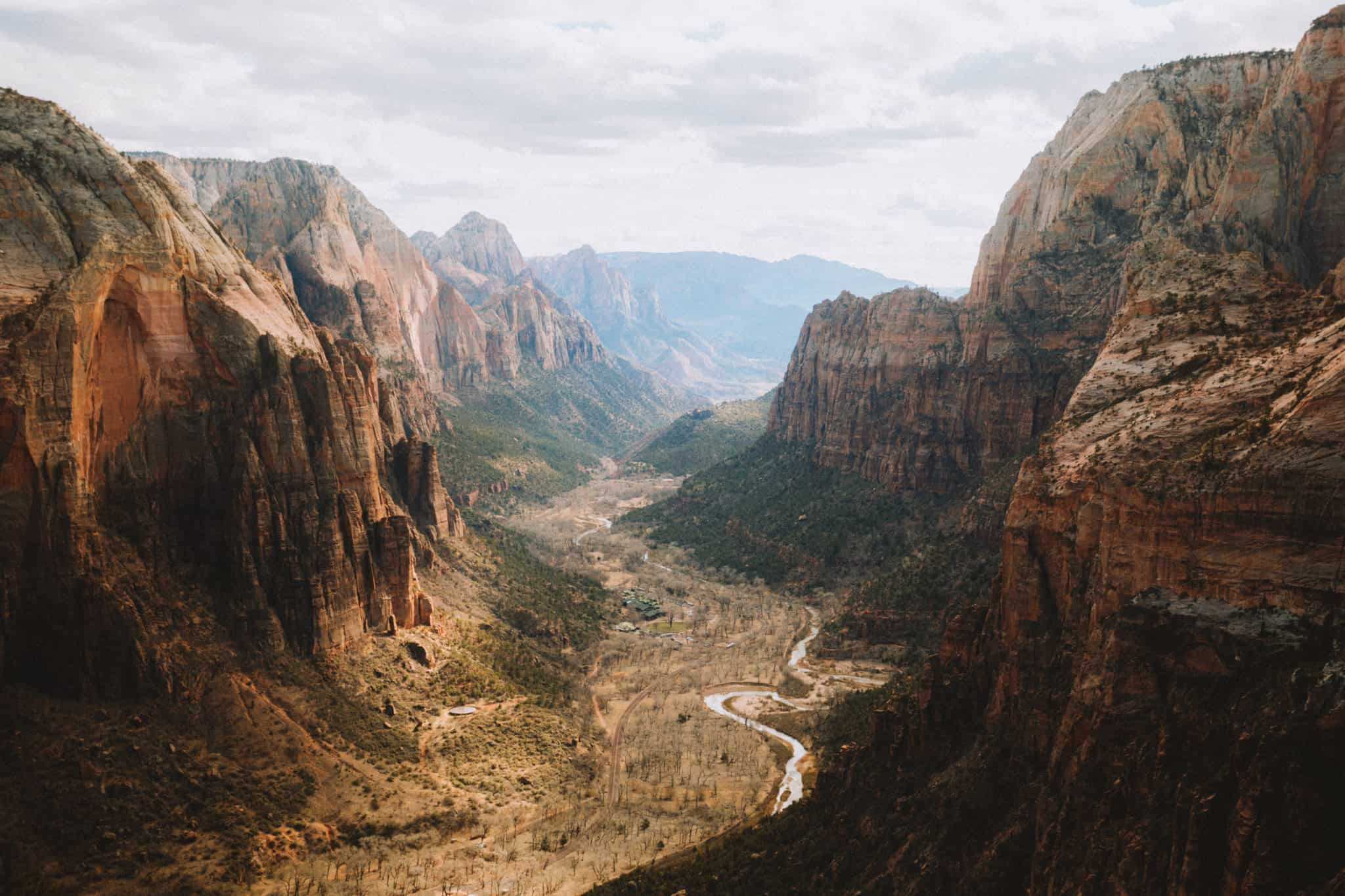 Utah National Parks Route Trip - Zion View from Angels Landing