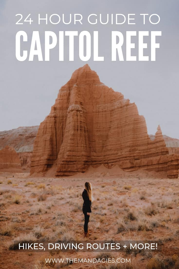 Capitol Reef National Park is a must-visit for all desert adventure lovers! In this blog post about Utah, we're sharing hidden arches, the best hiking routes, best photography locations in capitol reef and more! #capitolreef #capitolreefnationalpark #utah #might5 #southernutah #photography #utahtravel #roadtrip #camping #spring #travel #natgeotravel