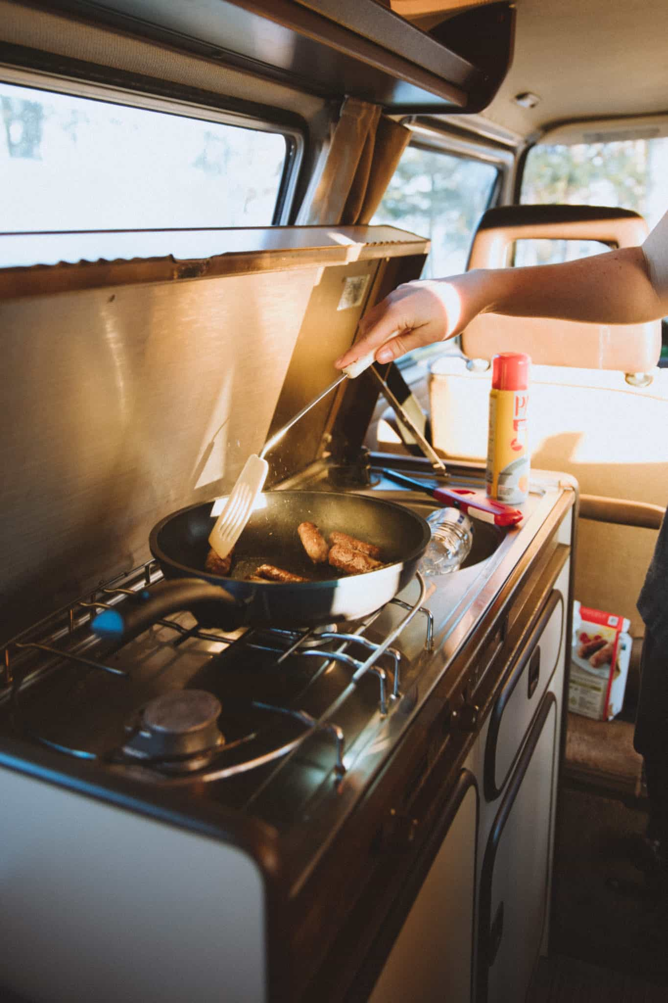 Cooking In The VW Westfalia, Alaska- TheMandagies.om
