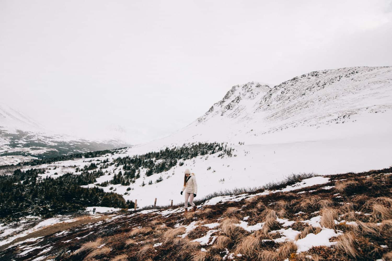 Emily Mandagie hiking Flattop Mountain in Anchorage, Alaska - TheMandagies.com