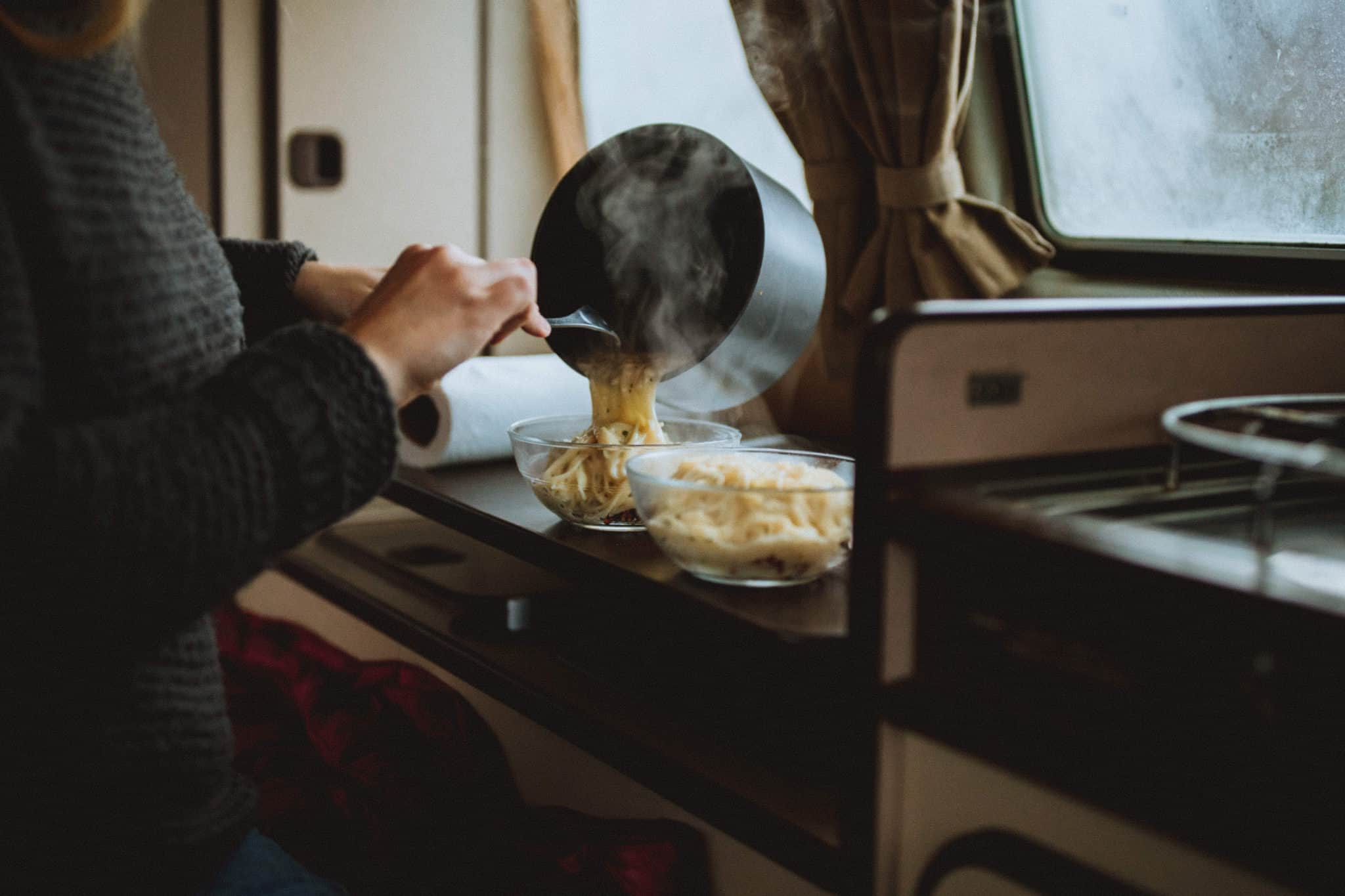 Cooking In The VW Westfalia - TheMandagies.com