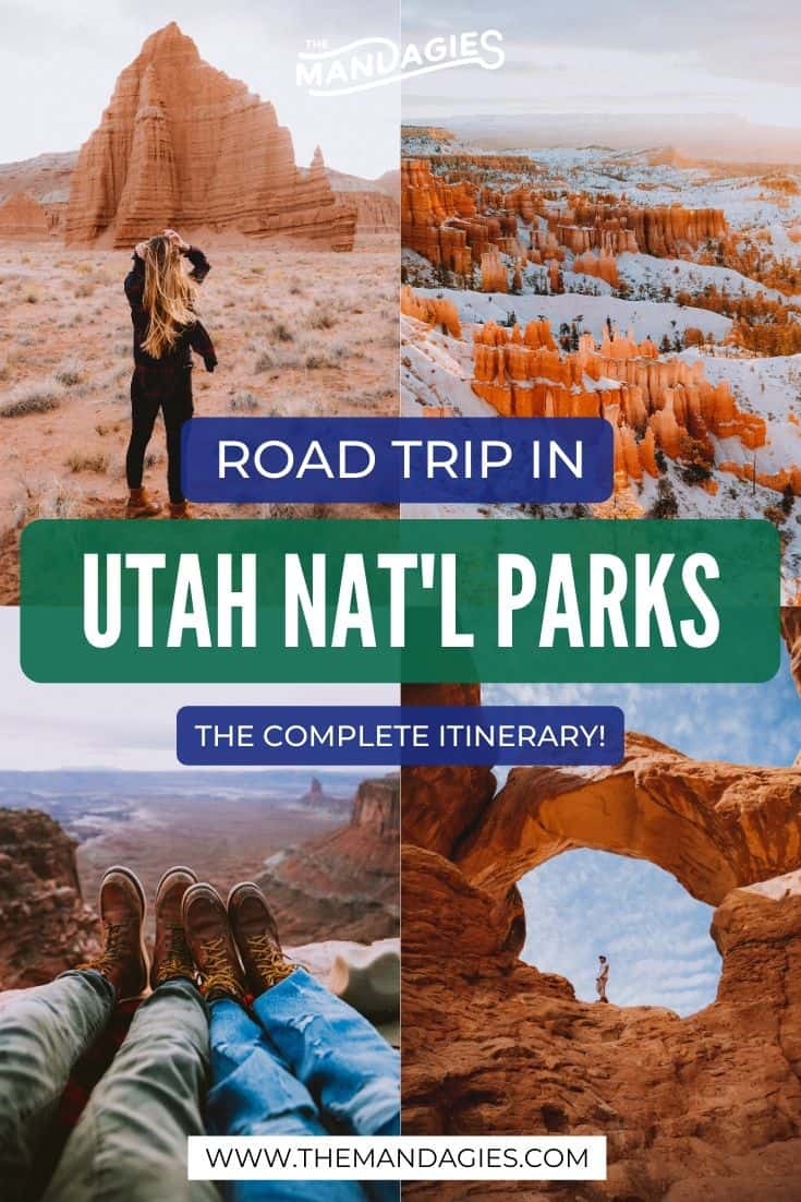Looking for a list of the best National parks in Utah? We'll do you one better - here's a Utah National Parks road trip! We're sharing the best route to see them all and amazing things to do in Utah! #utah #utahnationalparks #brycecanyon #archesnps #canyonlands #zionnationalpark #capitolreef #roadtrip #desert #utahroadtrip #travel