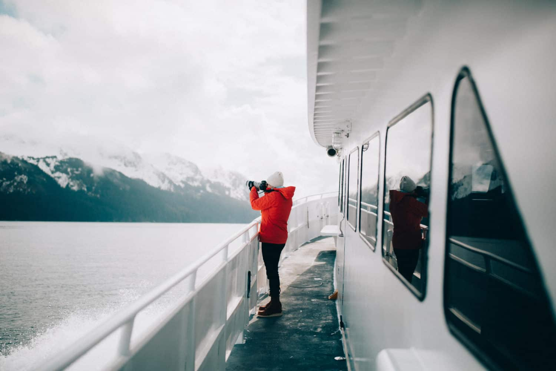 Emily Mandagie at Kenai Fjords National park