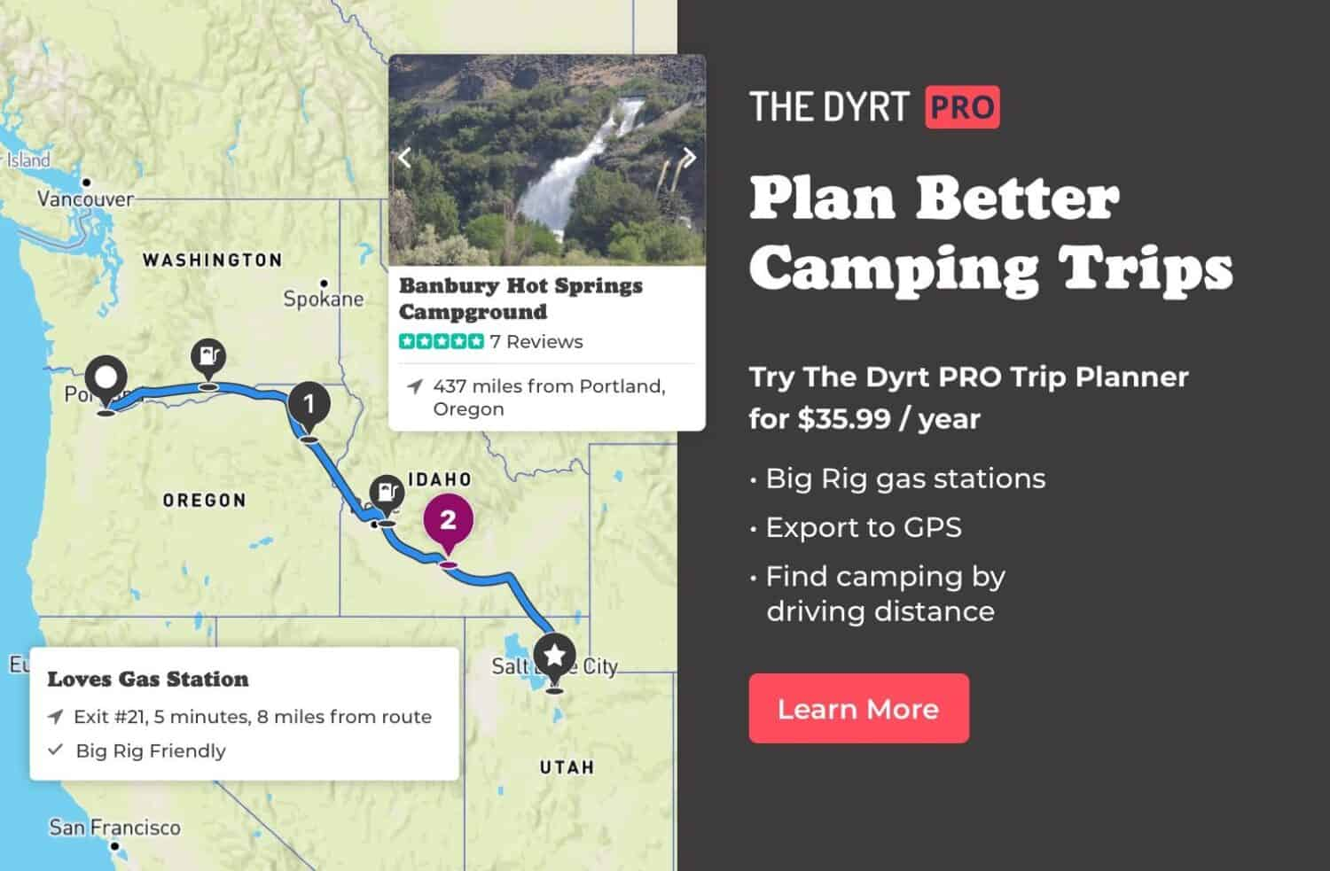 The Dyrt Road Trip Planner