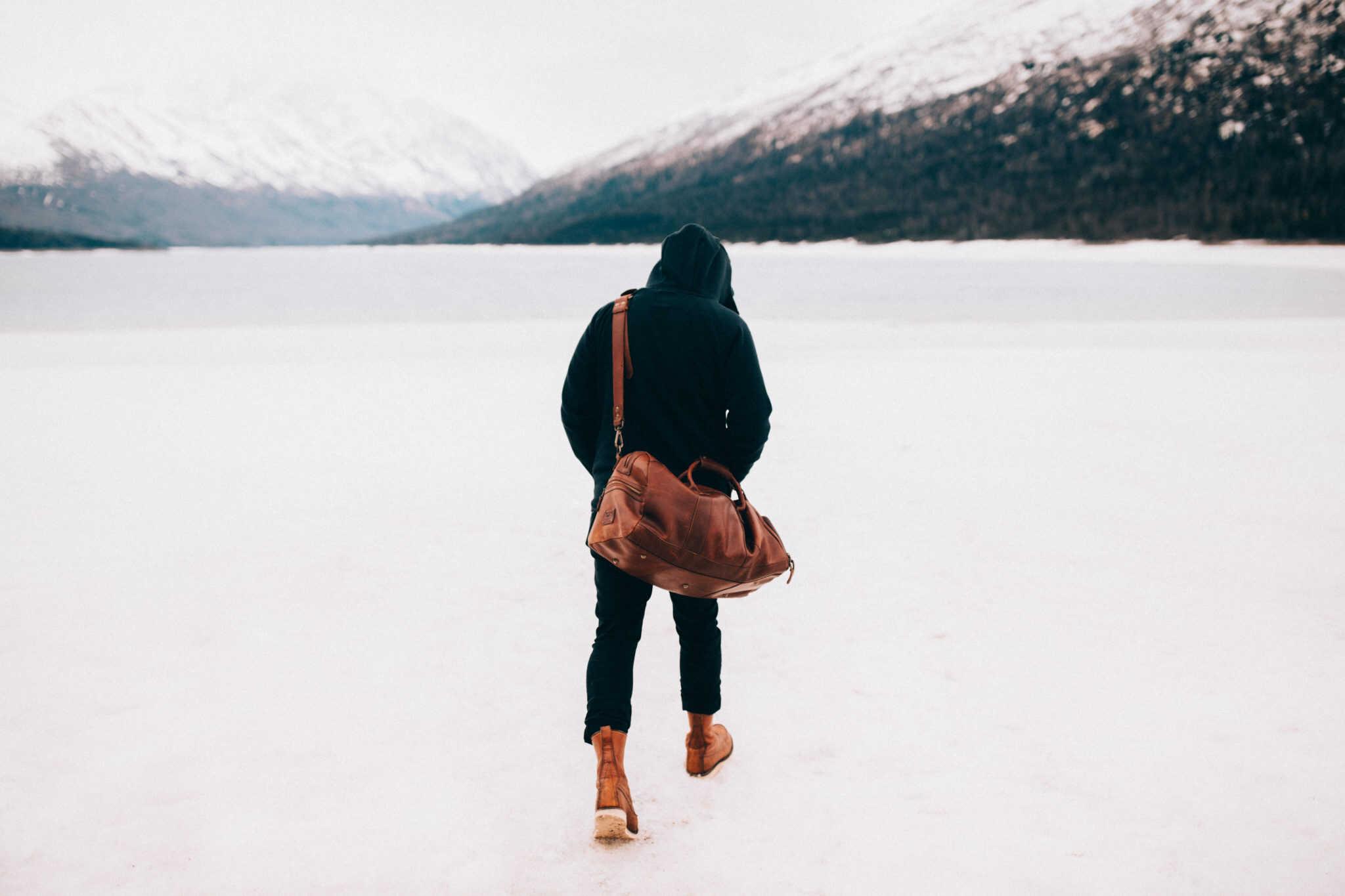 Frozen Eklutna Lake - Anchorage, Alaska