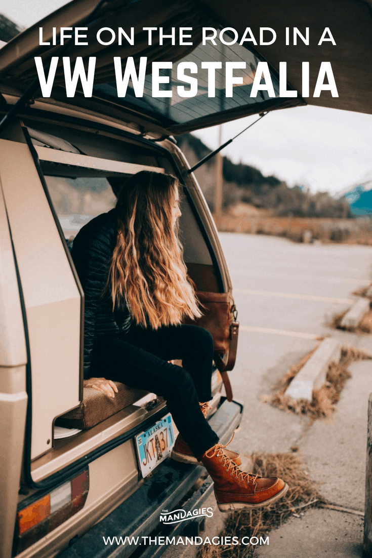 Curious what it's like to take an epic trip around Alaska in a vintage van? It's the perfect all-in-one vessel for sleeping, cooking, camping, and a base for all your outdoor adventures. Read more about our experience driving a VW Westfalia through the Last Frontier! #alaska #lastfrontier #themandagies #westfalia #VW #gowesty #vanlife #anchorage #seward #roadtrip #travel