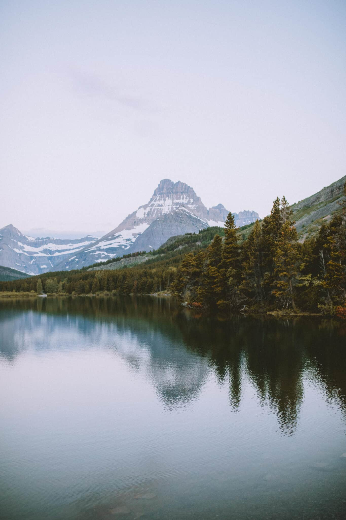 Swiftcurrent Lake morning view
