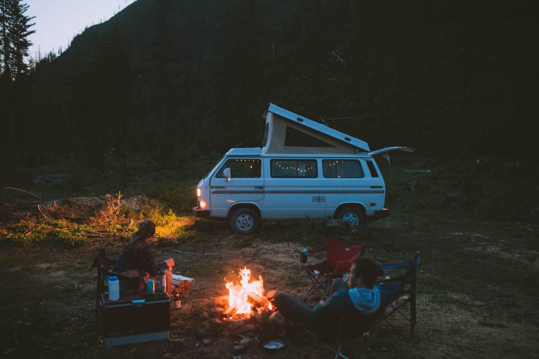 Enjoying free campsite in Montana