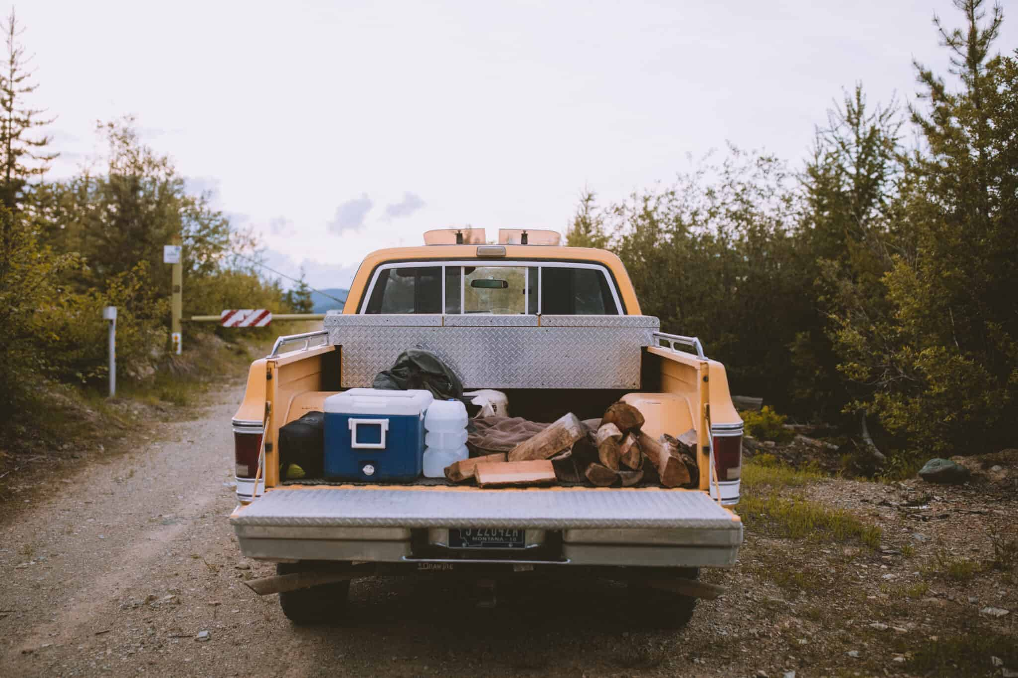 Camping Gear In Truck - Travel Photography Tips