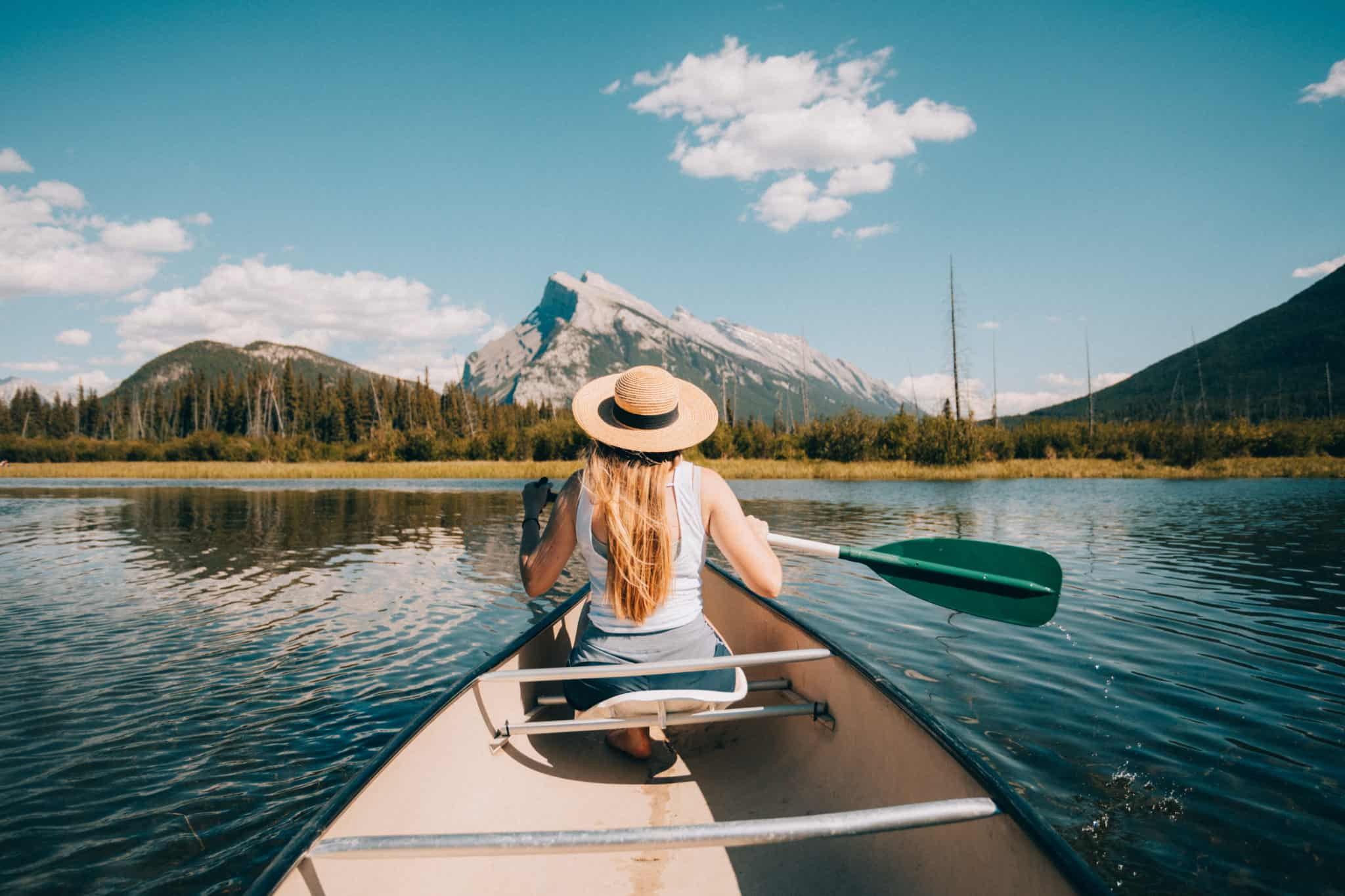 Things To Do In Banff - Canoe Vermillion Lakes