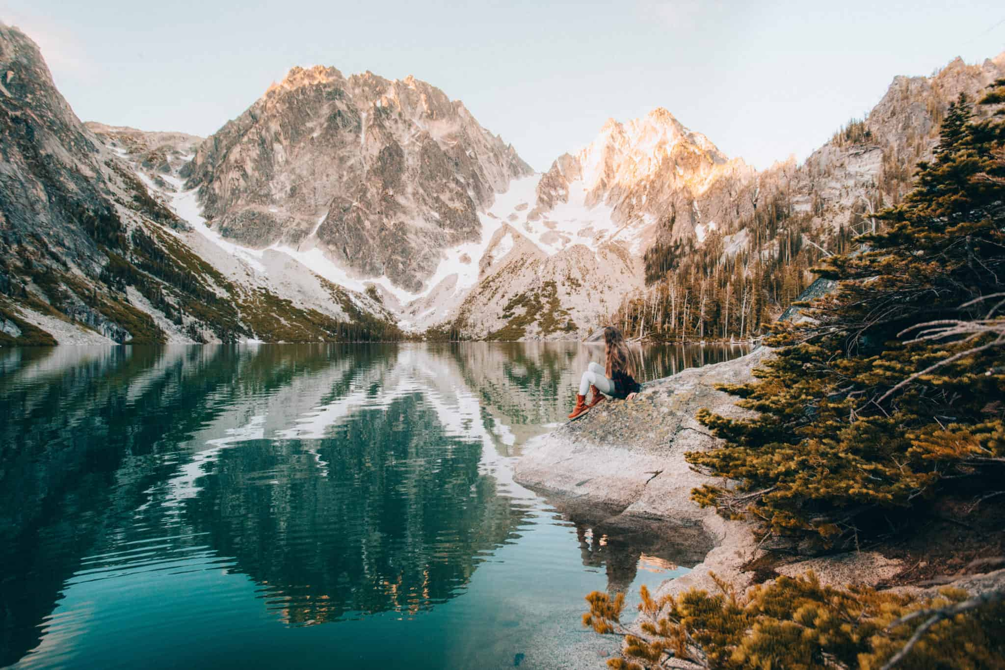 Emily Mandagie at Colchuck Lake, Washington (TheMandagies.com)
