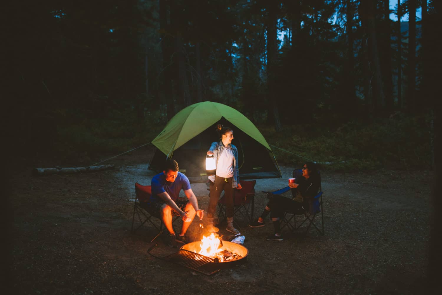 Camping with Friends in the Pacific Northwest