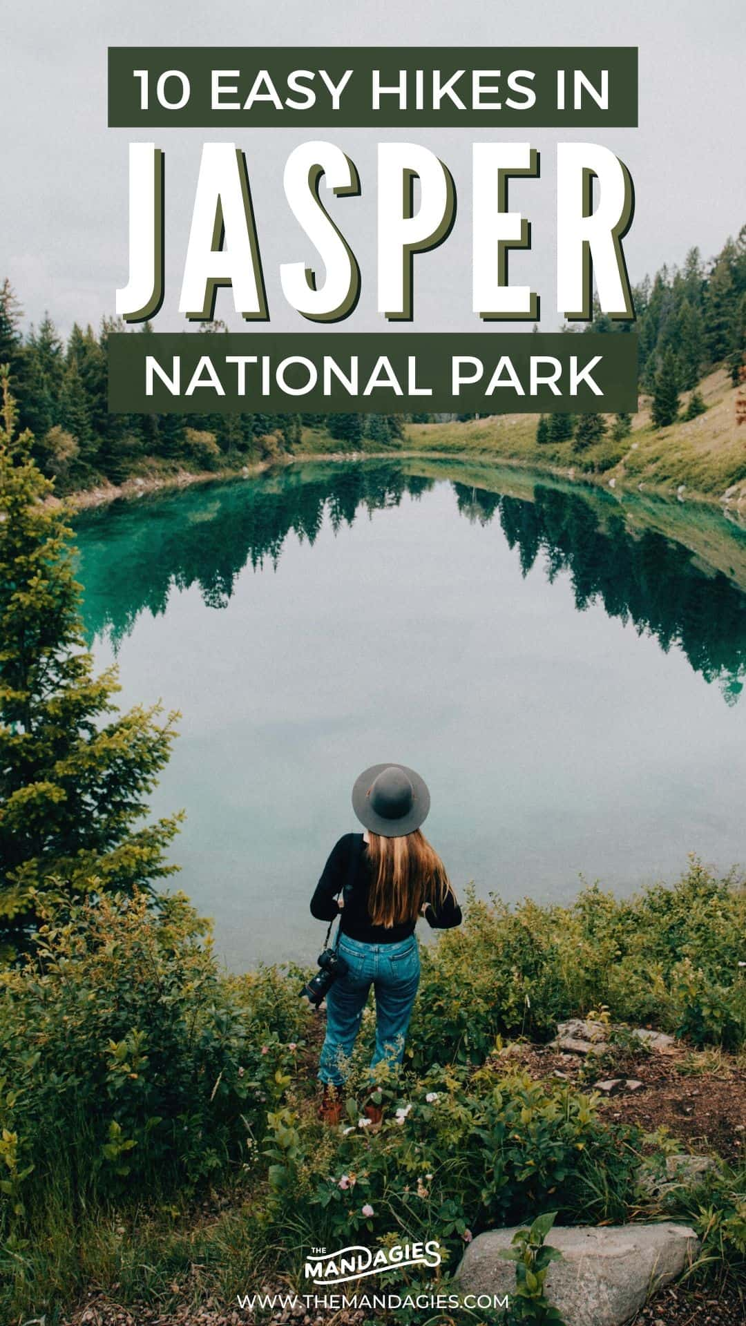 Discover some of the best and easiest hiking trails in Jasper National Park! It can sometimes be daunting to find Jasper hikes for kids, but these ones are easy enough for the whole family to enjoy! Save this for your next trip to Jasper National Park in Canada! #canada #jaspernationalpark #hiking #trails #jasper #canadianrockies #roadtrip #northamerica #travel