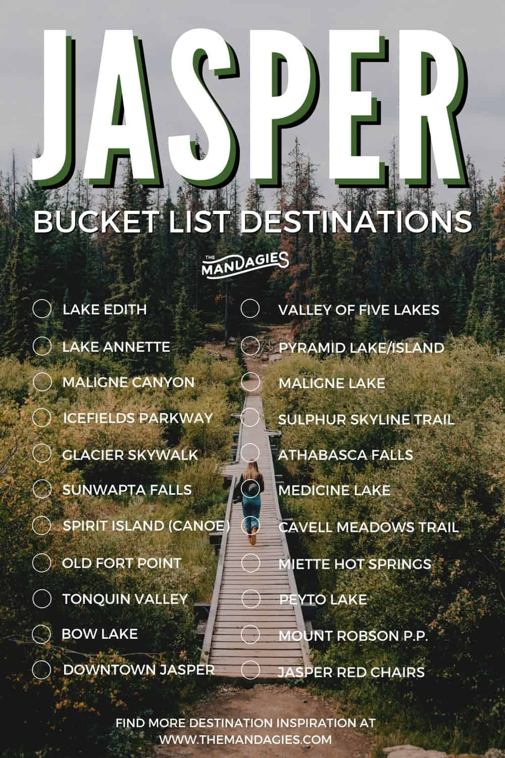 Discover the best Jasper National Park one-week itinerary here! It will take you some of the best spots in Jasper, including Athabasca Falls, Maligne Lake, Pyramid Island, and some secret spots in the Canadian Rockies! See it all here: #canadianrockies #jasper #jaspernationalpark #malignelake #pyramidlake #canada #adventure