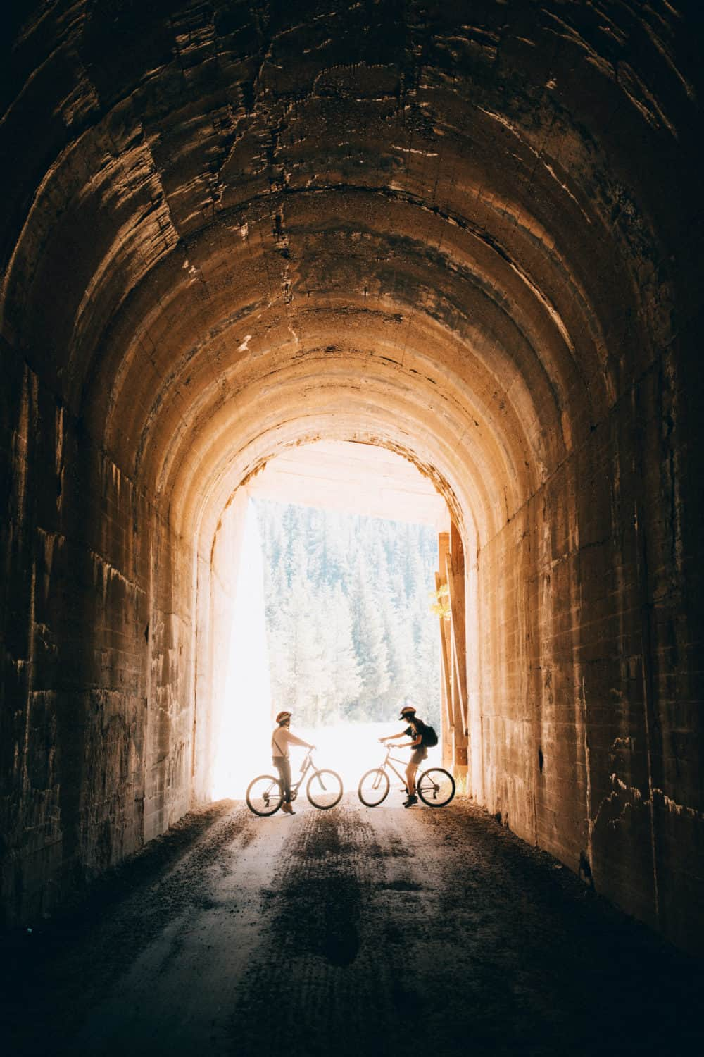 The Hiawatha Bike Trail - Train Tunnel - Northern Idaho Itinerary - TheMandagies.com