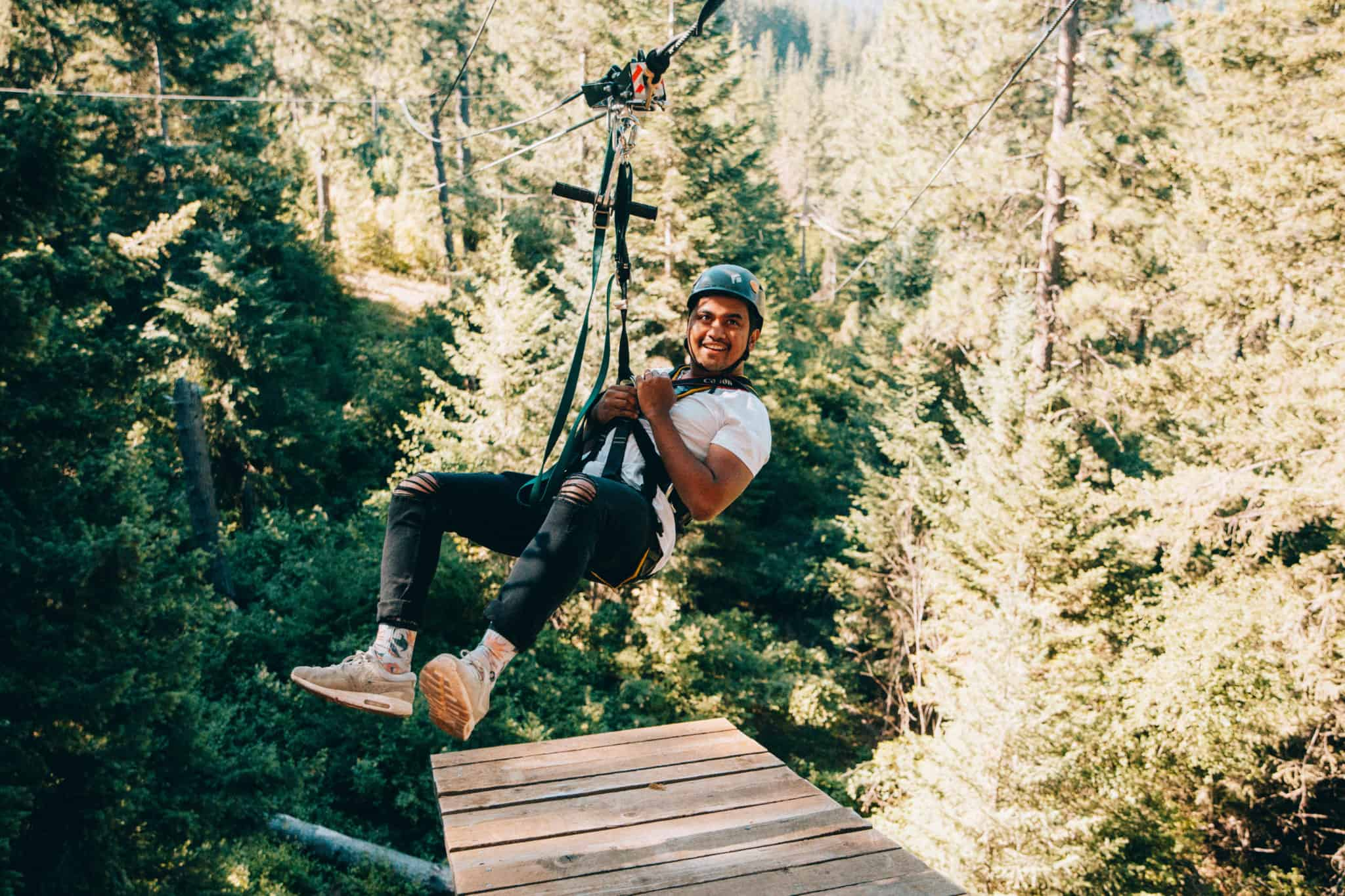 Berty Mandagie Timberline Adventures Zip Lines Coeur d'Alene Idaho