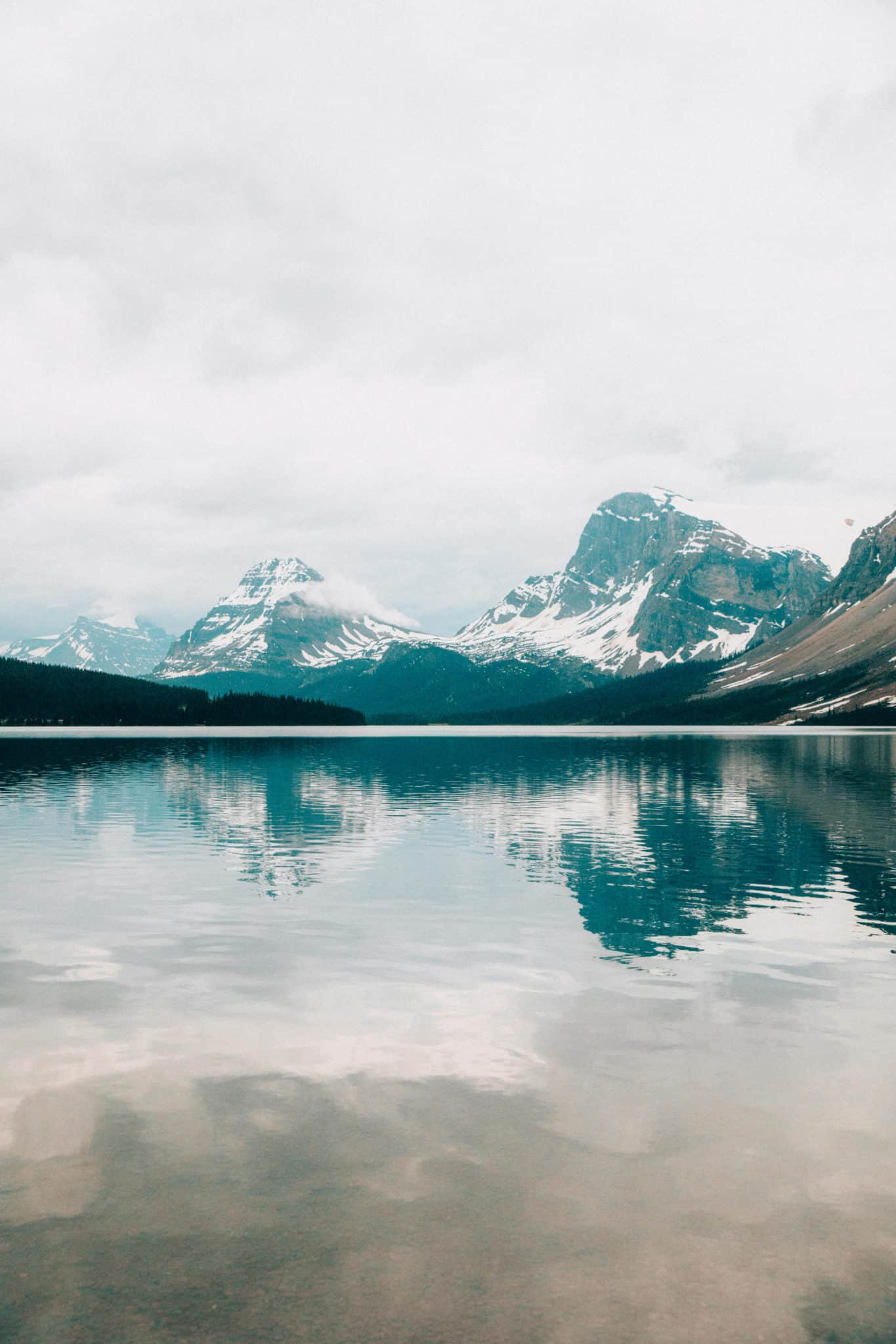 Amazing Photo Spots In Banff National Park - Bow Lake Reflection