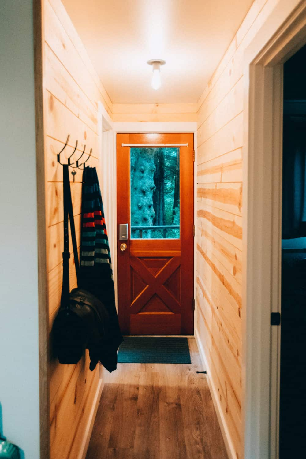 South Fork Cabin Interior Front Door - TheMandagies.com