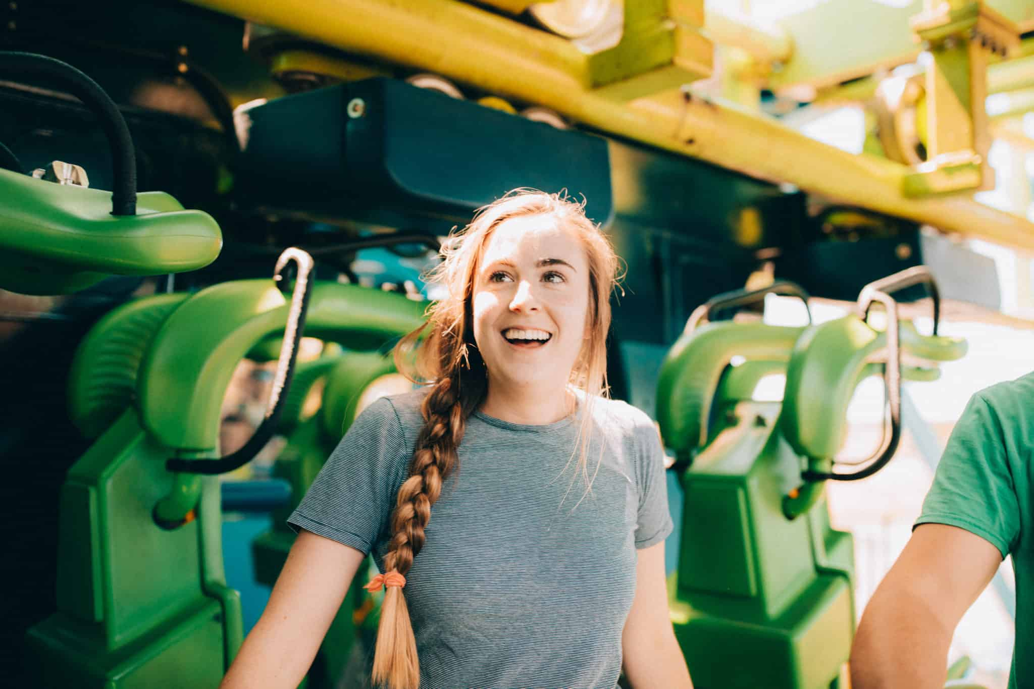 Emily Mandagie at Silverwood Theme Park - Northern Idaho Itinerary