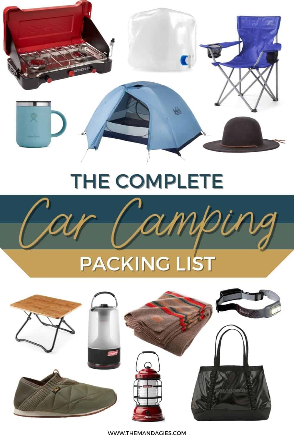 Looking for the perfect car camping packing list? Save this post for later, because we're sharing all the best camping essentials here! #camping #packinglist