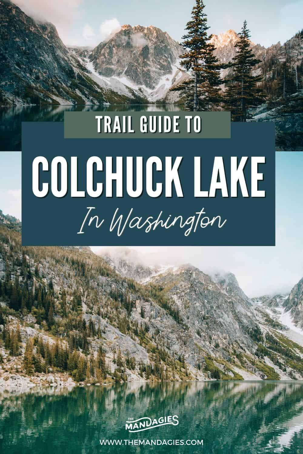 Hike one of the most beautiful trails in Washington state - Colchuck Lake hike! In this post, we're showing you everything you need to know about hiking to this lake in The Enchantments, what to pack for your hiking trip, beautiful PNW photos and more! Save this for your next trip to Washington! #washington #hiking #cascades #enchantments #summer #sunrise #photography #westcoast #PNW #pacificnorthwest #washingtonstate