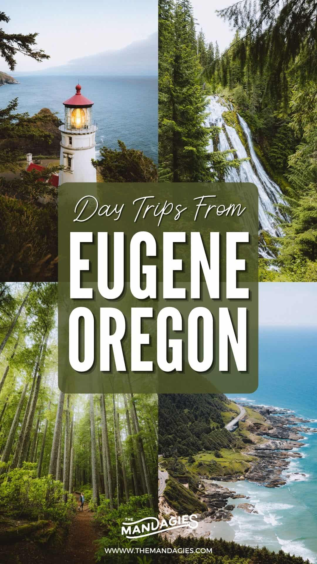 There are so many day trips from Eugene to elevate your trip to Oregon! Discover all the best things to do in Eugene in and around the area, from the Pacific Ocean to the Cascade Mountains! We're sharing epic day trips from Eugene, including Heceta Head Lighthouse, McKenzie River Highway, Sahale and Koosah Falls and so much more! #eugene #oregon #pnw #pacificnorthwest #oregoncoast #cascademountains #roadtrip #daytrip