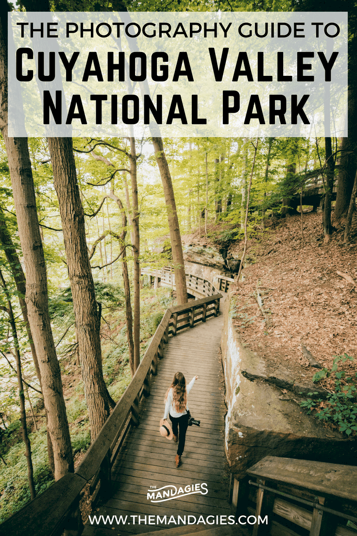 Discover the ultimate photography guide to Cuyahoga Valley National Park! We're sharing the most beautiful waterfalls, trails, overlooks and more in Ohio's gem, just south of Cleveland! #ohio #cleveland #cuyahogavalley #cuyahogavalleynationalpark #photography #waterfalls #sandstone #landscape #trails #hiking #history #canal #coveredbridge #travel