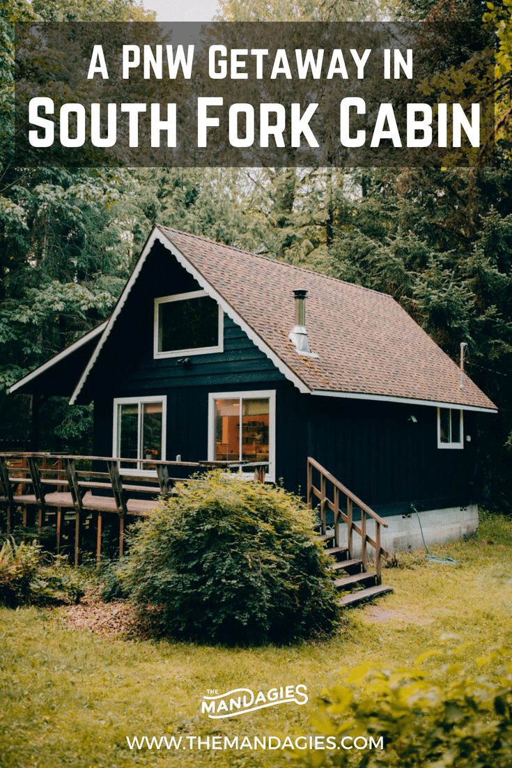 Discover your next Pacific Northwest Getaway at South Fork Cabin in Baring, Washington! This unique cabin rental in Washington sits next to the Skykomish River bring the ultimate relaxation weekend! #cabin #PNW #PacificNorthwest #Washington #AFrame #Getaway #Outdoors #Fall #Forest #Travel #Hiking