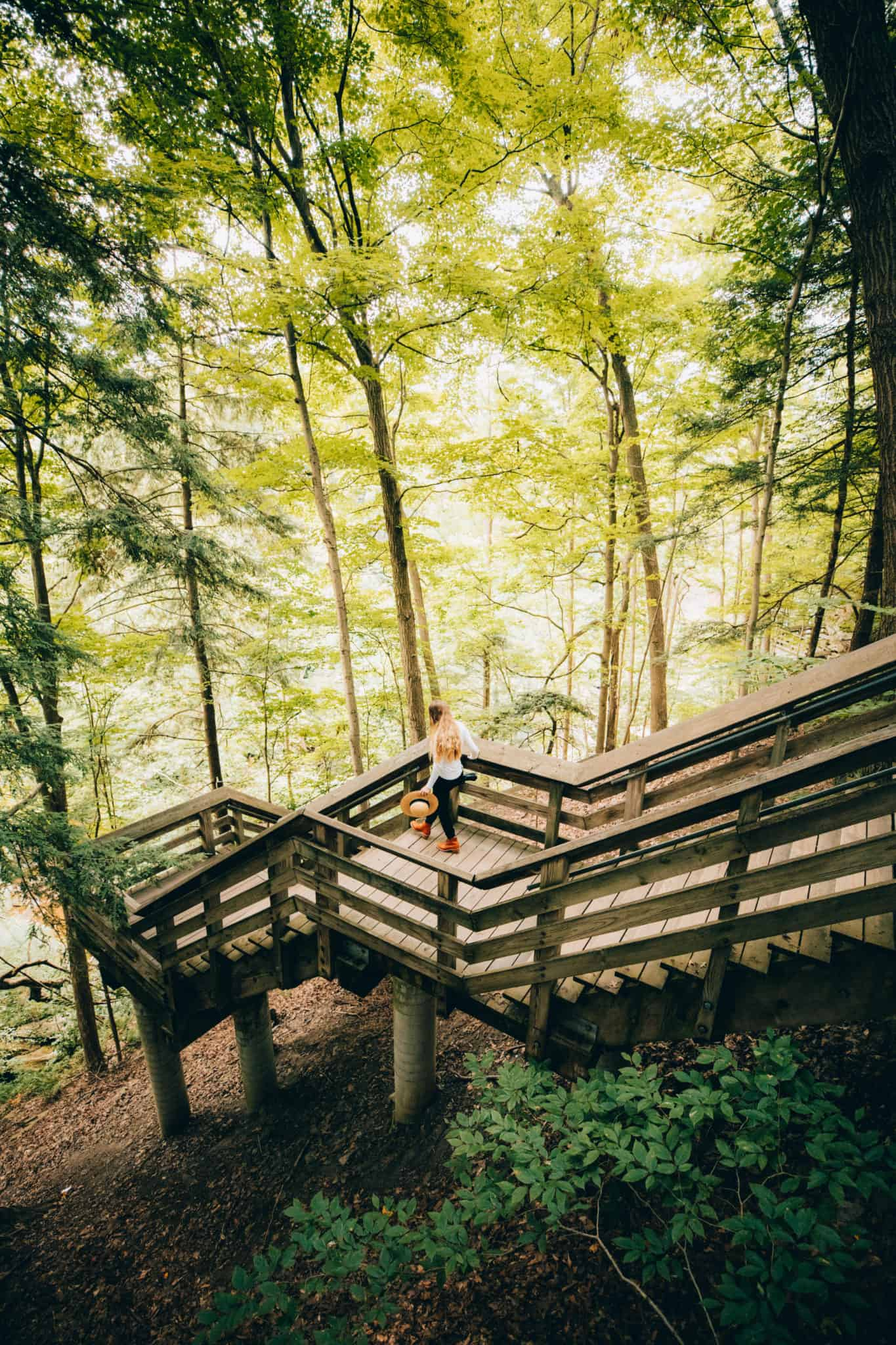 Boardwalks at Brandywine Falls - Cuyahoga Valley National Park - TheMandagies.com