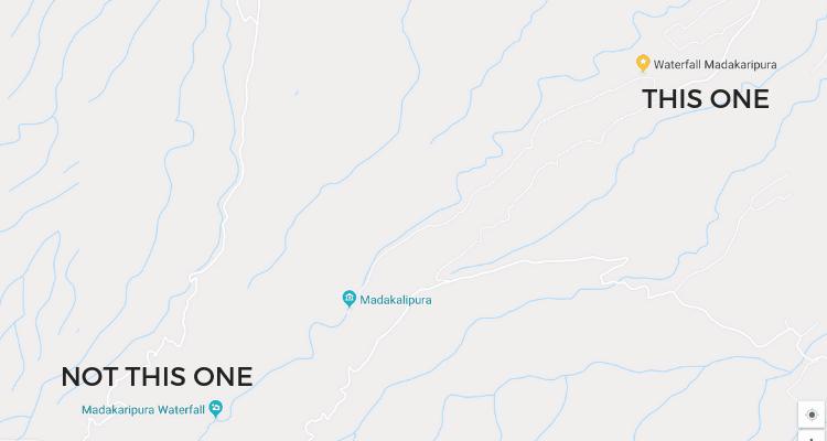 Correct Route to East Java Waterfall, Madaparipura