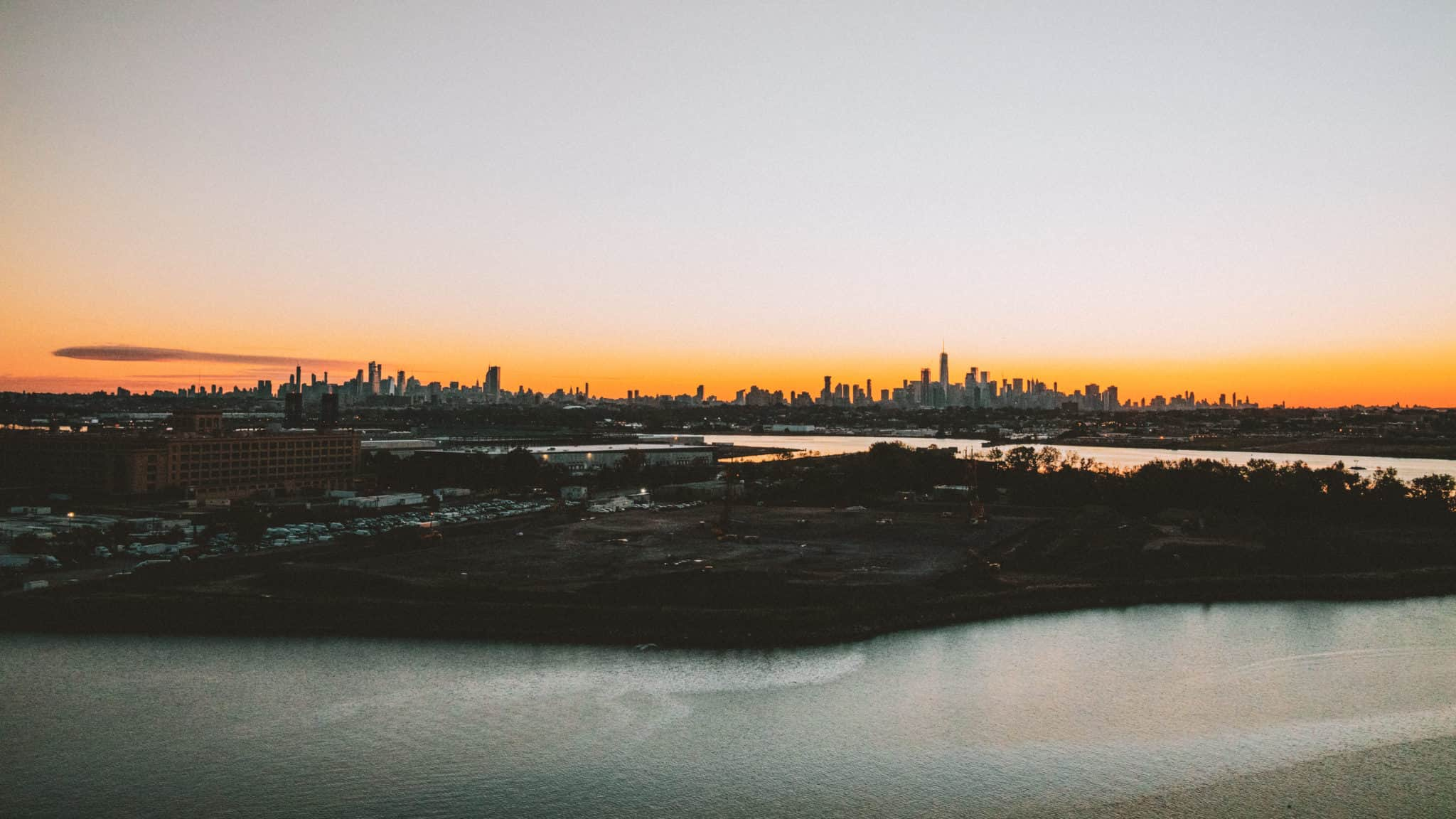 Sunrise over Manhattan Skyline