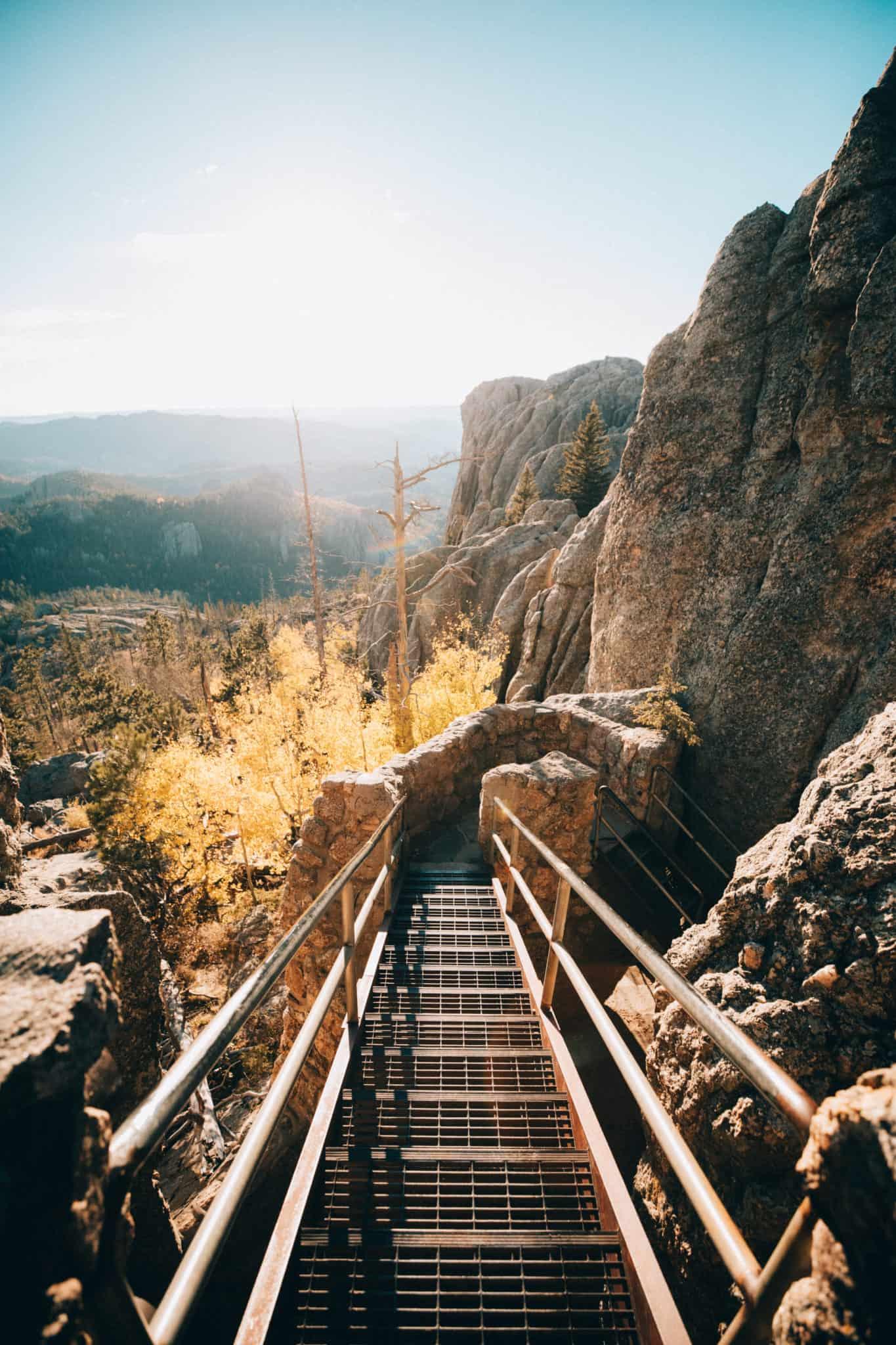 Fire Tower Stairs at Black Elk Peak Summit, South Dakota