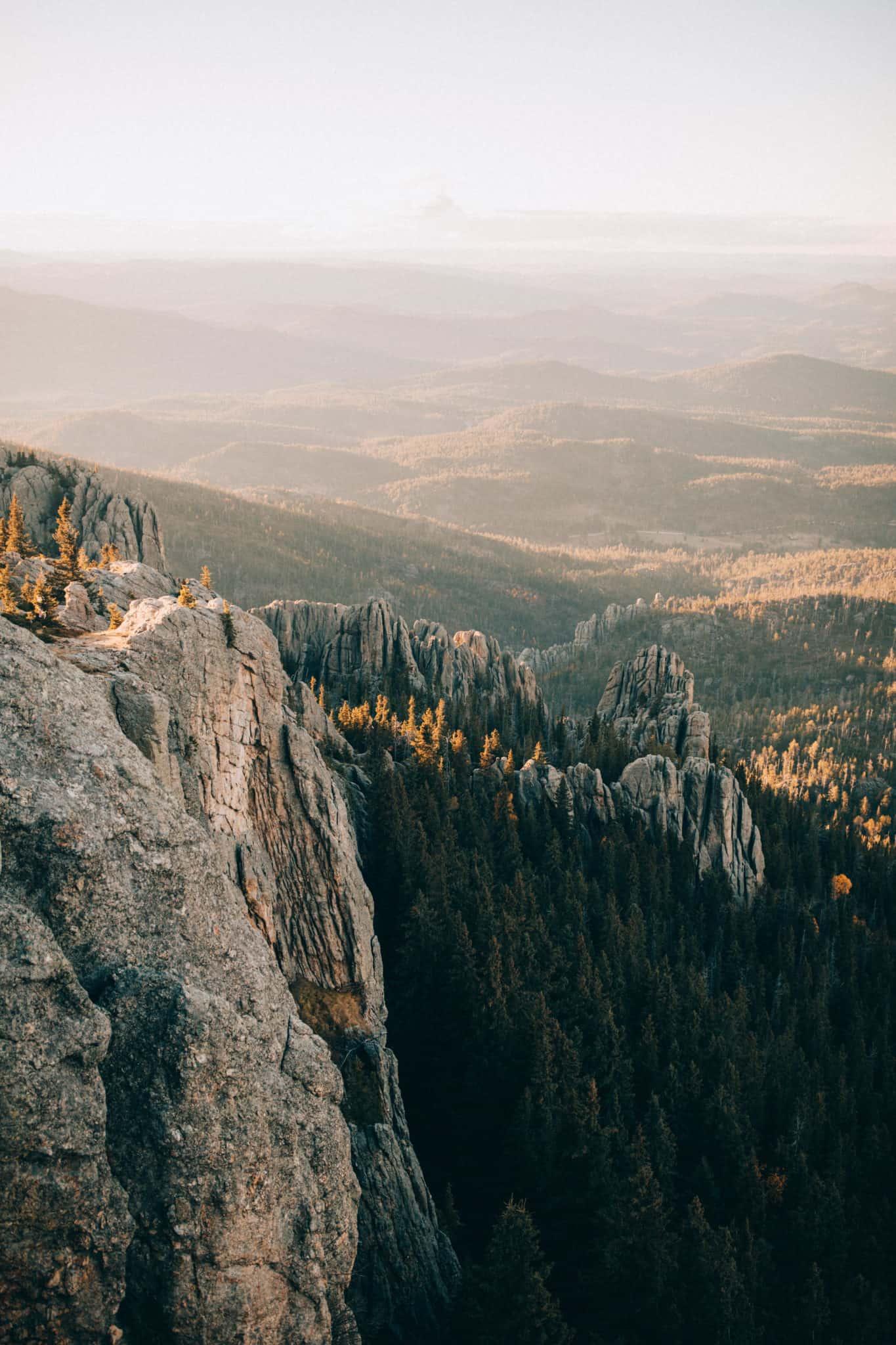 View of Granite peaks in Black Elk National Forest, South Dakota