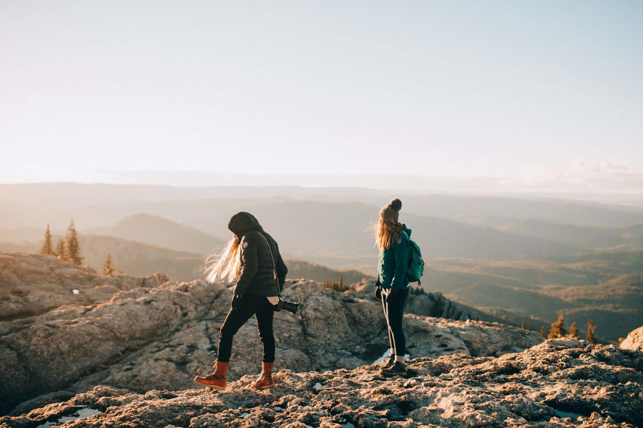Emily Mandagie and Stephanie Palmer, Black Elk Peak Trail Sunset view