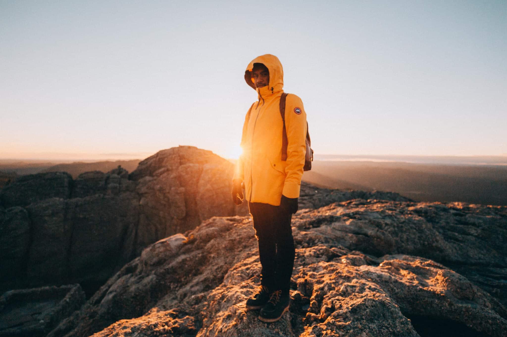Berty Mandagie watching sunset on Black Elk Peak Trail
