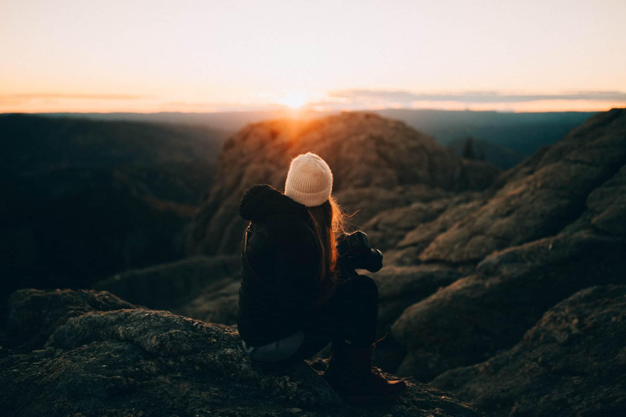 Black Elk Peak Trail sunset at the top, Emily Mandagie