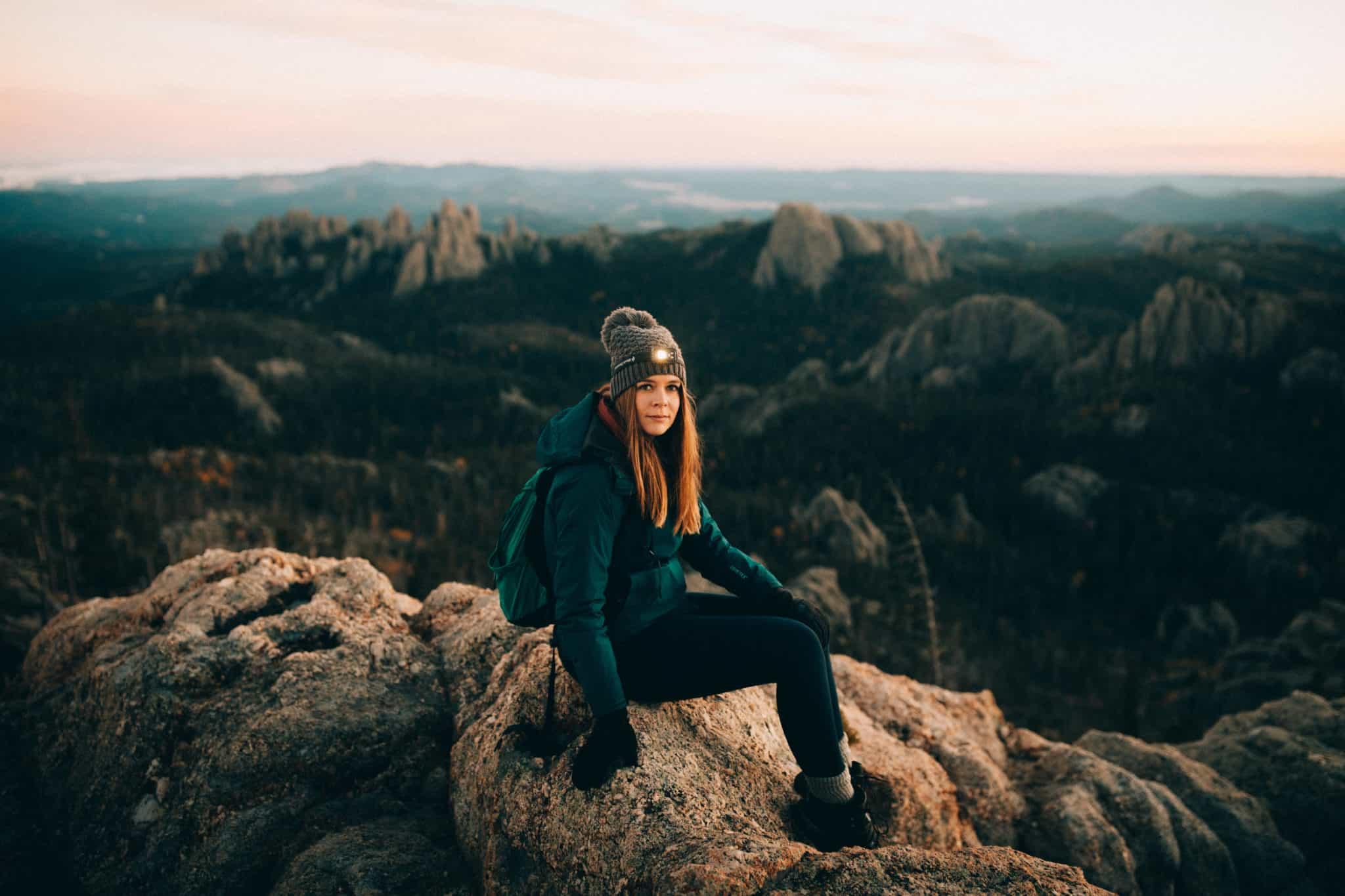 Stephanie Palmer on Black Elk Peak Trail, South Dakota