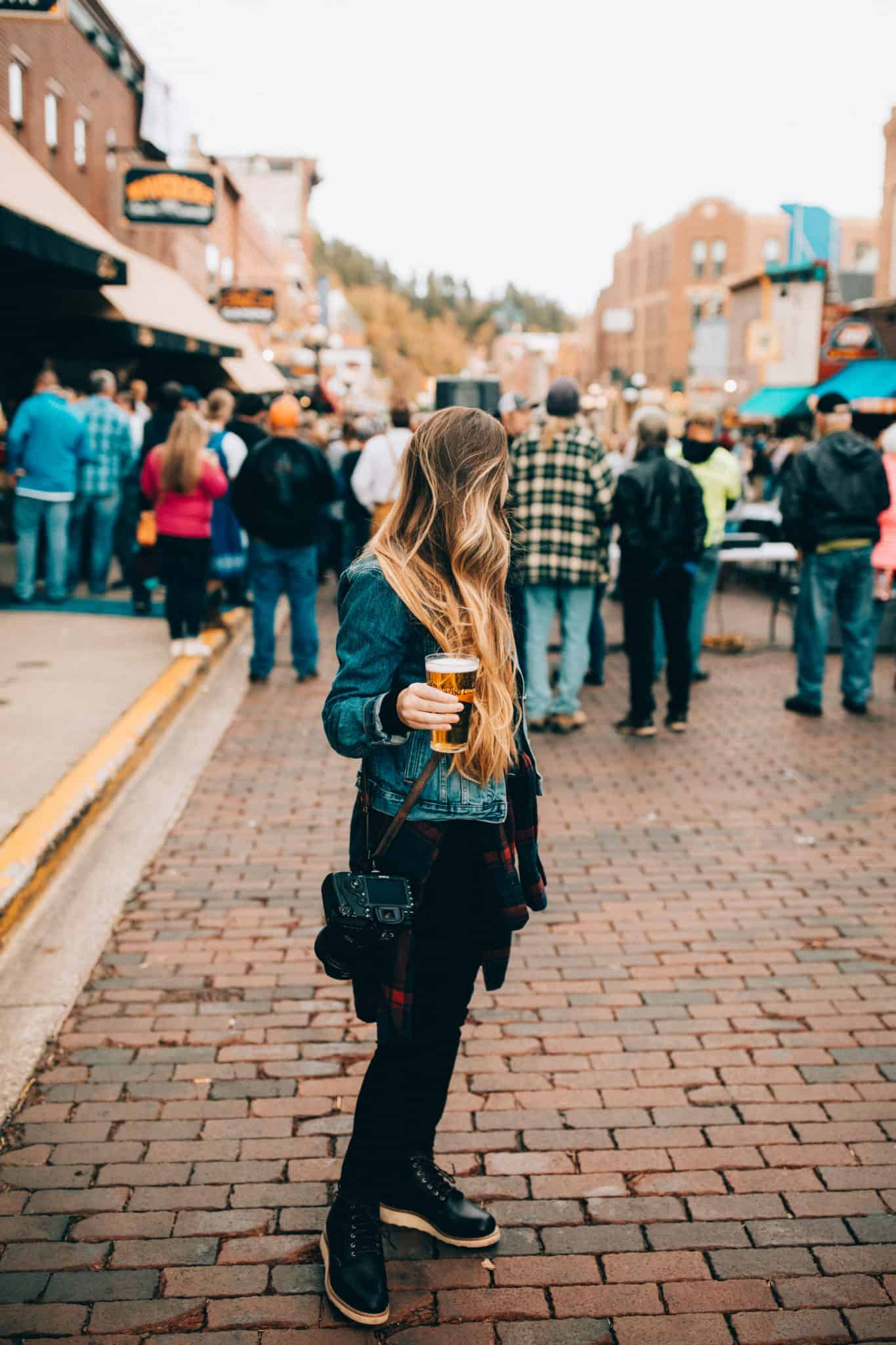 Emily, autumn in South Dakota, Oktoberfest in Deadwood