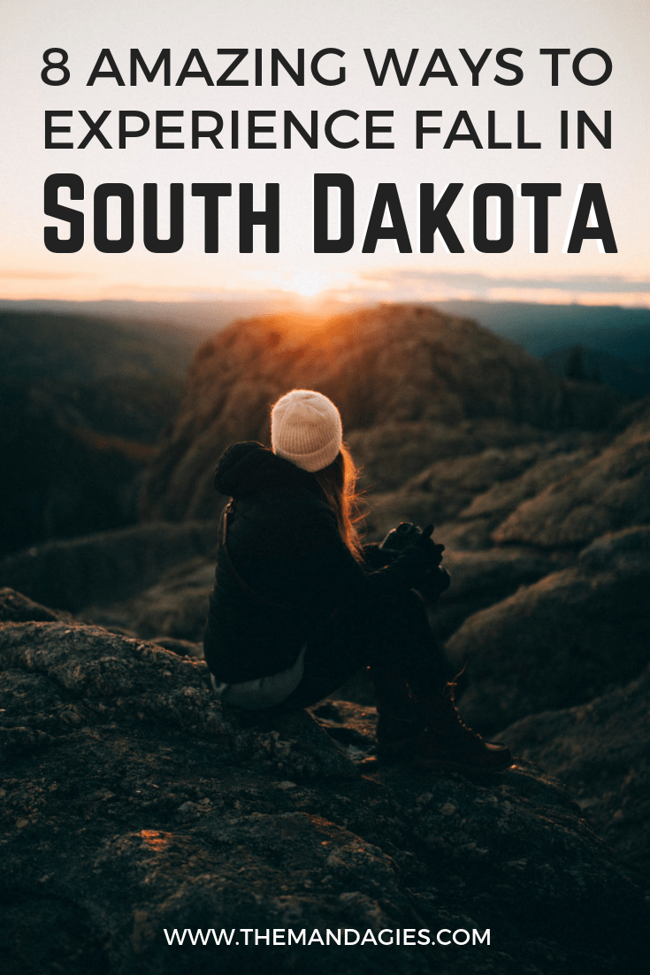 Looking for the best places to experience fall foliage, autumn drives, and changing trees? Come and experience autumn in South Dakota - an unconventional but completely amazing location for fall. We're sharing 8 must-do activities! #southdakota #blackhills #rapidcity #mountrushmore #windcavenationalpark #badlandsnationalpark #Outdoors #Fall #scenicdrive #Travel #Hiking