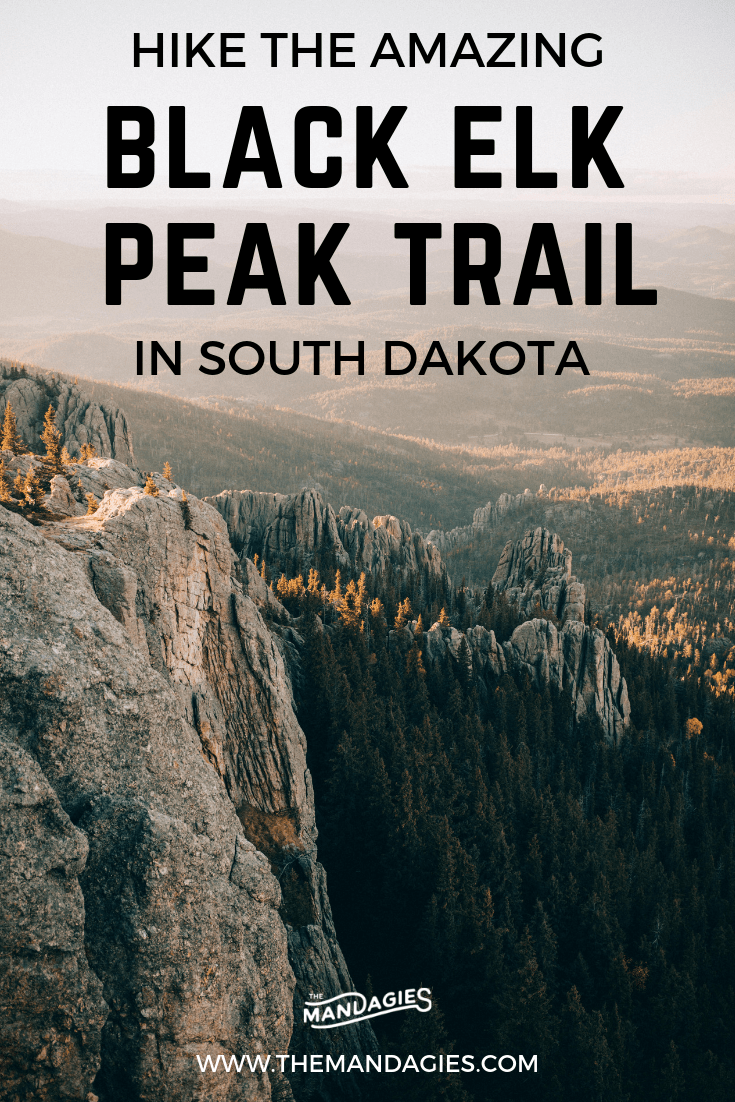 Discover one of the most beautiful hikes in the USA...in South Dakota! We're sharing stunning landscapes on Black Elk Peak trail, how to prepare, and amazing photos from Custer State Park and the Black Elk Wilderness. Save this post for hiking inspiration later! #SouthDakota #BlackElkPeak #sunset #photography #blackhills #rapidcity #custerstatepark #Instagram #needleshighway #Travel #hiking #mountains #themandagies #mountrushmore""