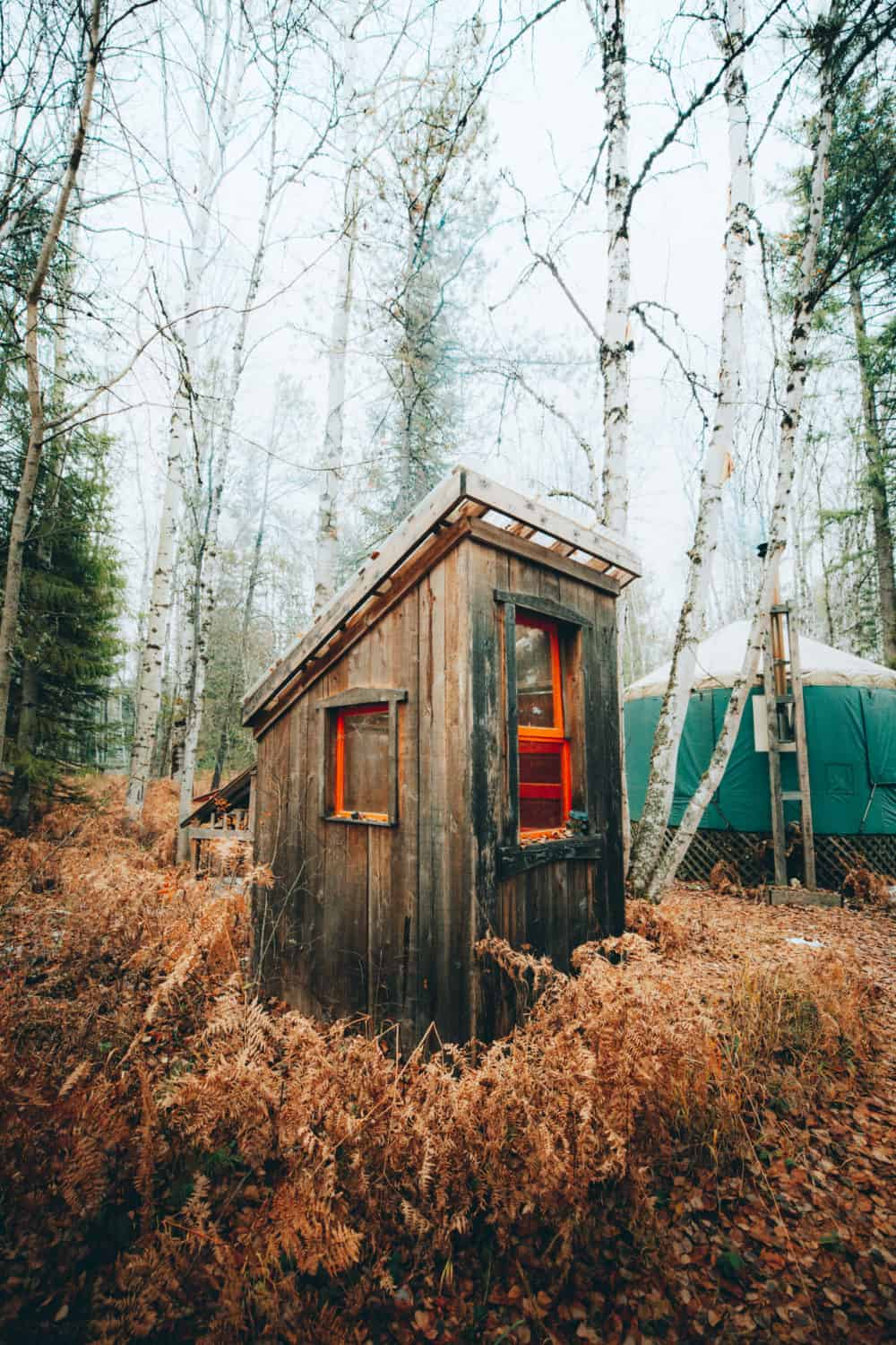 yurt outhouse