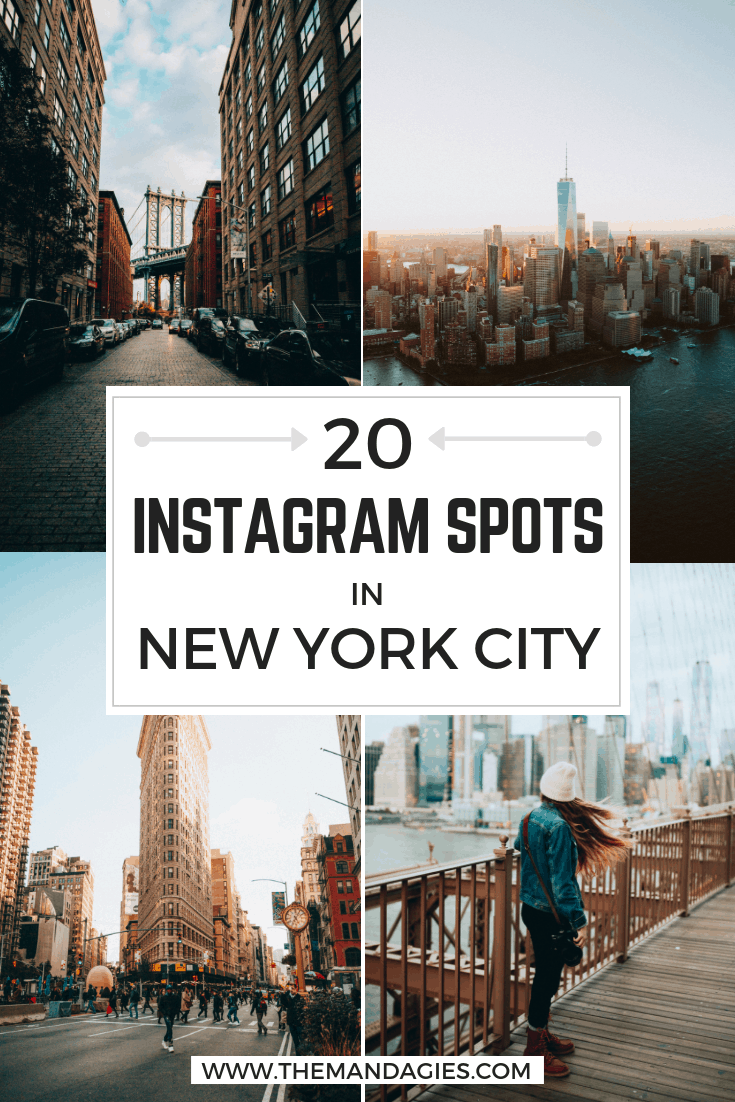 Discover The Best Instagram Spots in NYC in this detailed photography post! All inclusive with New York maps, NYC photography tips, and the best places to snap beautiful pictures of Manhattan. Save this post to read and plan later! #NewYorkCity #NYC #Manhattan #Brooklyn #NewYork #CentralPark #StatueofLiberty #Instagram #Photography #Travel #GrandCentralStation #TimesSquare
