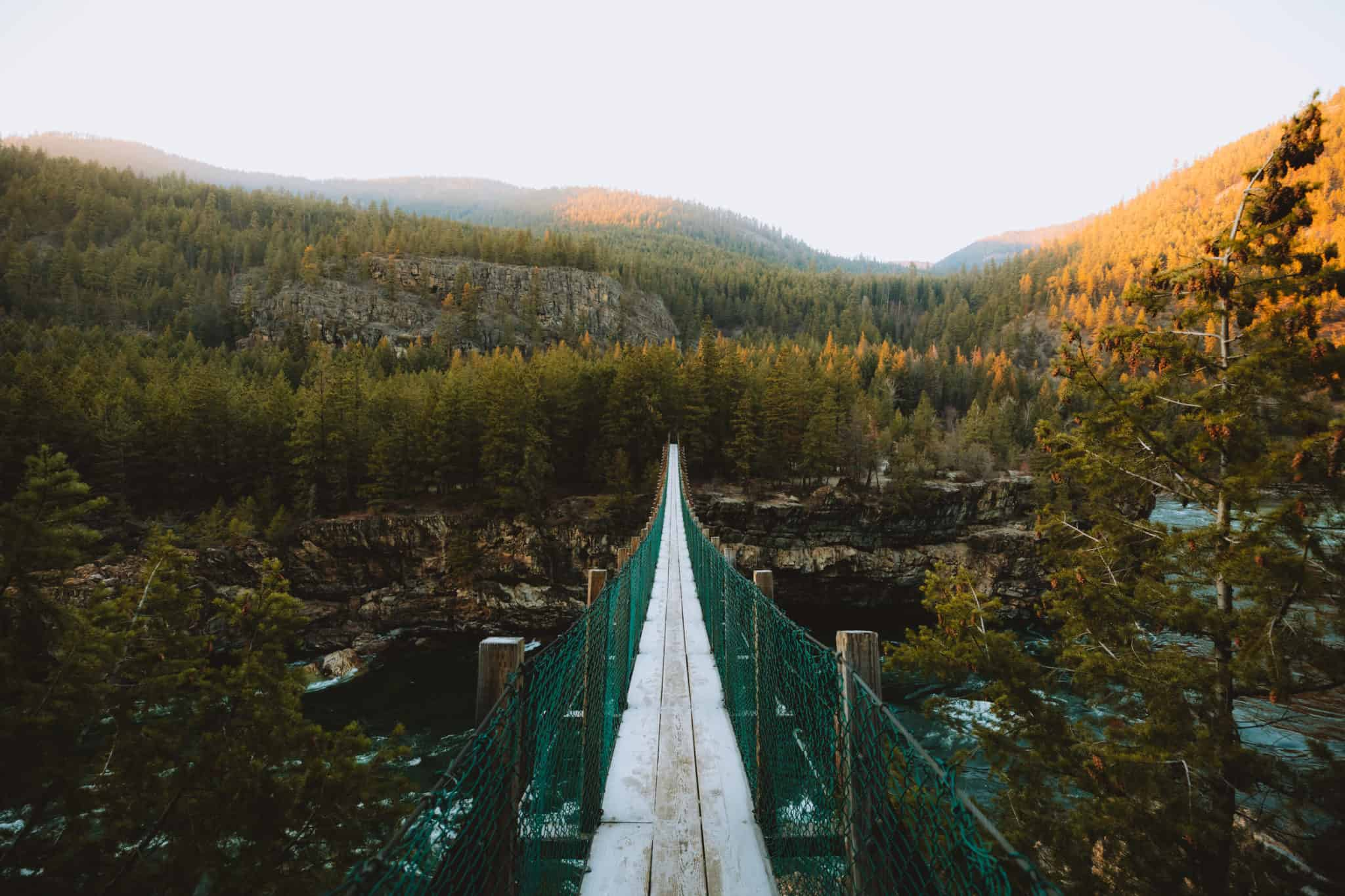 Kootenai Falls Swinging Bridge - TheMandagies.com
