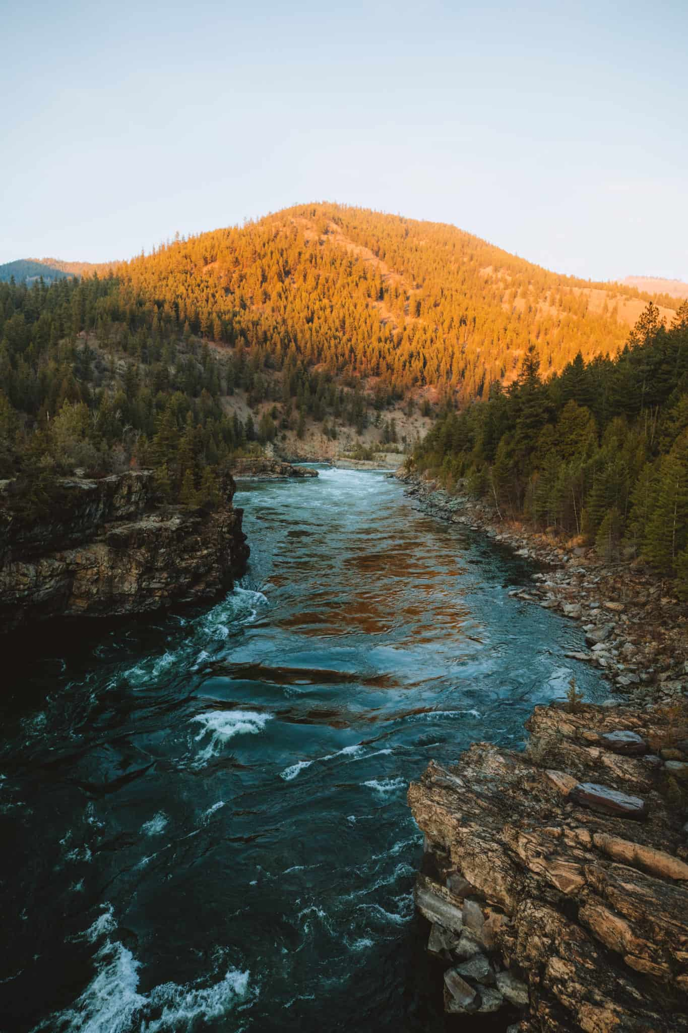 View of Kootenai River From Swinging Bridge - TheMandagies.com