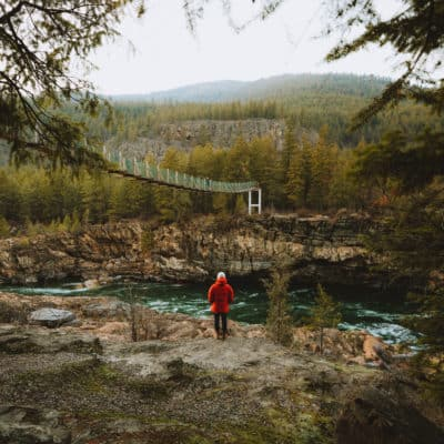 How To Reach Montana's Hidden Kootenai Falls Swinging Bridge On Your Next Inland Northwest Adventure