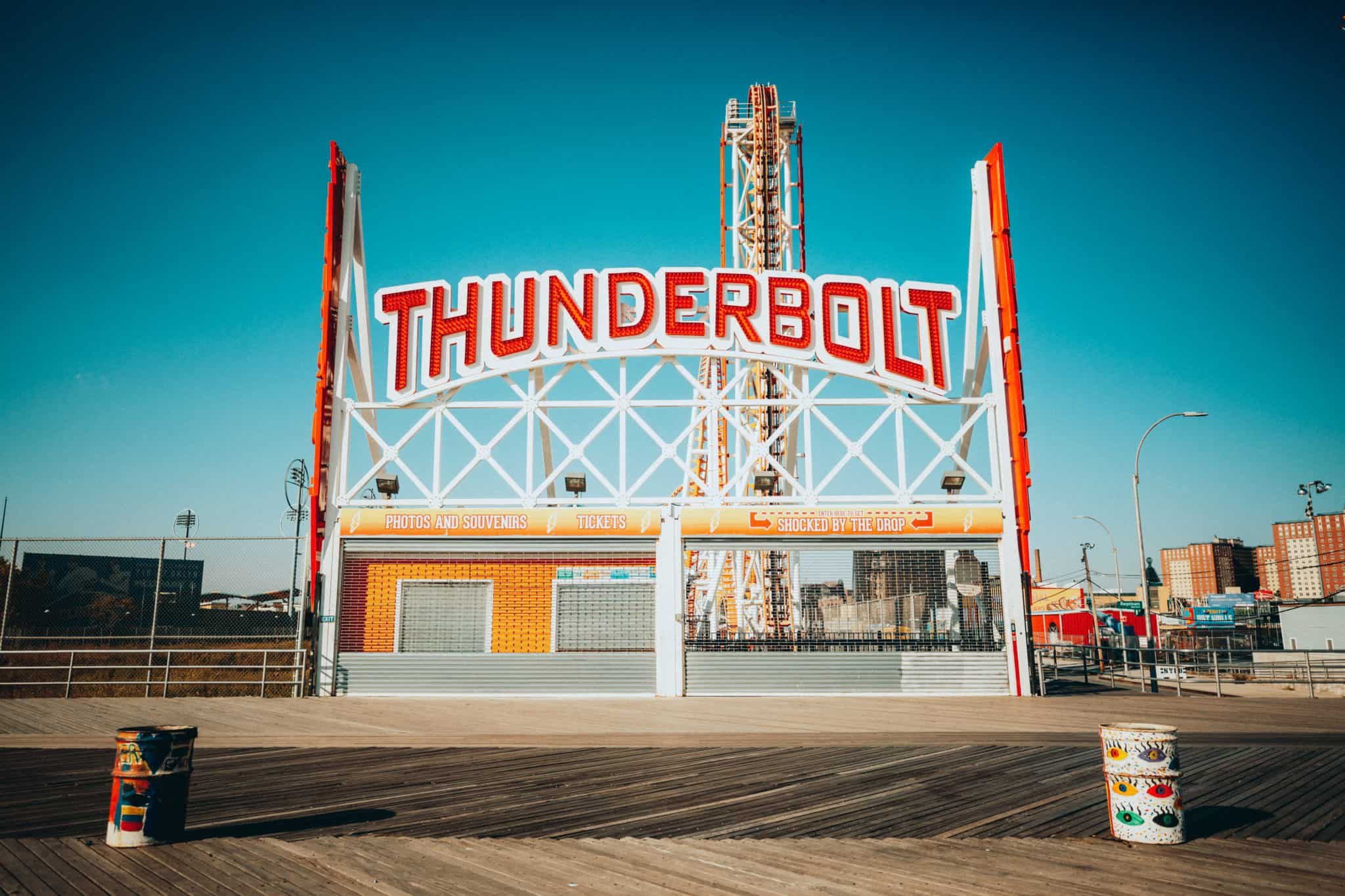 Thunderbolt Sign at Coney Island - Instagram Spots In NYC